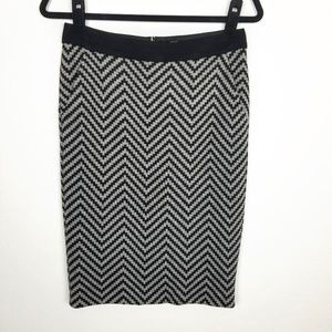 Trina Turk Zig Zag Chevron Pencil Skirt